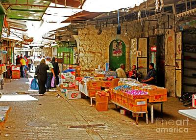 Photograph - Market In Hebron 3 by David Birchall