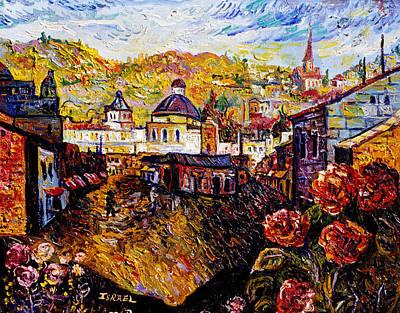 Roussimoff Wall Art - Painting - Market In Jerusalem by Ari Roussimoff