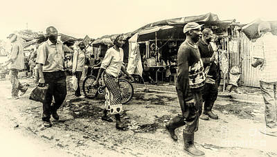 Market In Nairobi Art Print