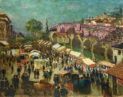 Painting - Market In Navarre by Dario de Regoyos