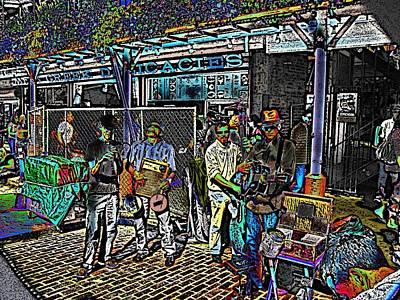 Market Interlude 2 Art Print by Tim Allen