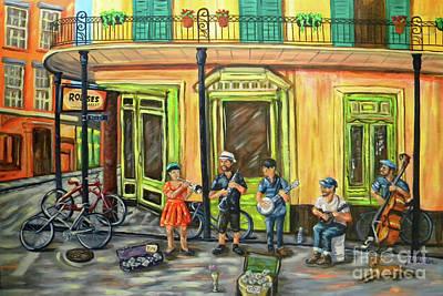 Painting - Market Musicians by JoAnn Wheeler