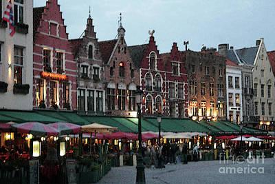 Photograph - Market Place-bruges_pjboylan by PJ Boylan