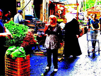 Market Scenes Of Beirut Print by Funkpix Photo Hunter
