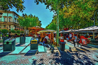 Photograph - Market Square 19418 by Ray Shrewsberry
