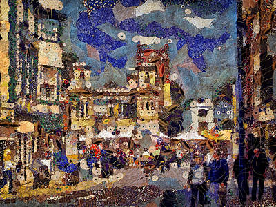 Market Square Monday Art Print