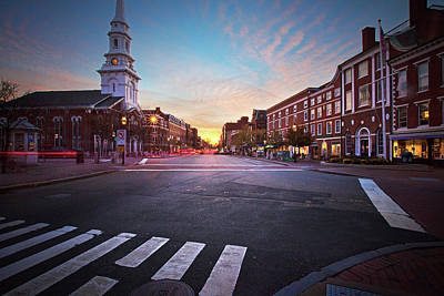 Photograph - Market Square Sunset by Eric Gendron