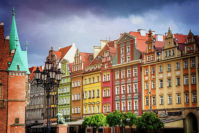 Photograph - Market Square Wroclaw Poland  by Carol Japp
