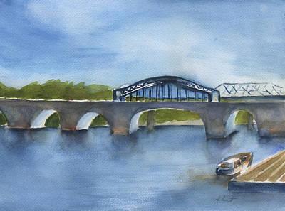 Market St Bridge Abstract Chattanooga Art Print