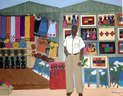Painting - Market Stall In Dominican Republic by Stephanie Moore