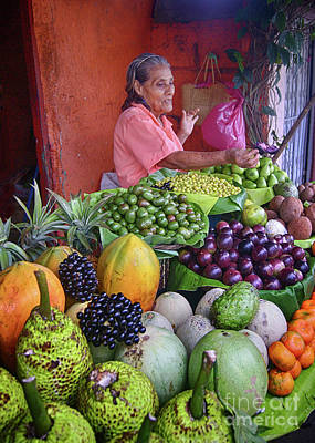Photograph - market stall in Nicaragua by Rudi Prott