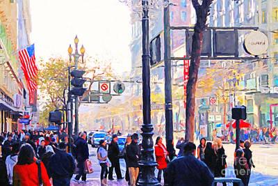 Market Street - Photo Artwork Art Print by Wingsdomain Art and Photography