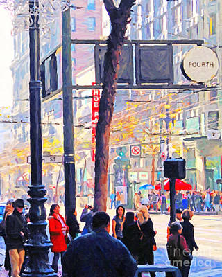 Photograph - Market Street 5 . Photo Artwork by Wingsdomain Art and Photography