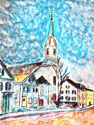 Painting - Market Street Baptist Church Amesbury by Anne Sands
