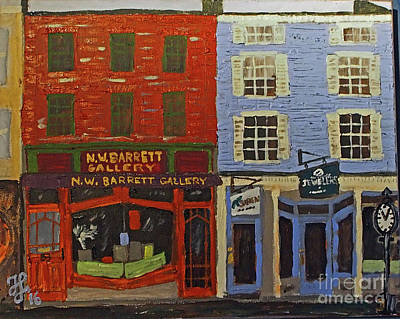 Painting - Market Street Duo by Francois Lamothe