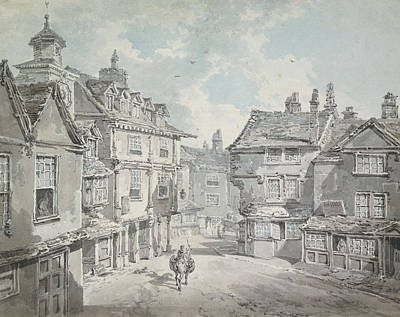 Shop Drawing - Market Street by Joseph Mallord William Turner