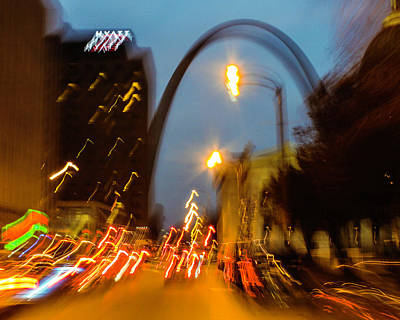 Photograph - Market Street Nocturne 2 by Garry McMichael