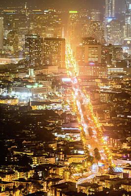 Photograph - Market Street San Francisco by Jason Chu
