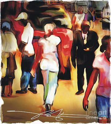 Market Street Scene Art Print by Bob Salo