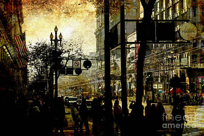 Photograph - Market Street . Texture by Wingsdomain Art and Photography