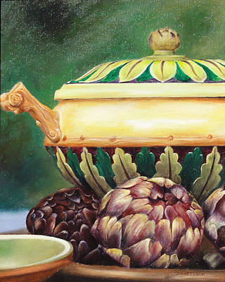 Painting - Market Tureen by Denise H Cooperman
