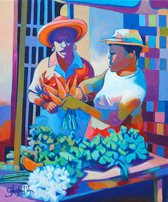 Painting - Market Vendor by Glenford John