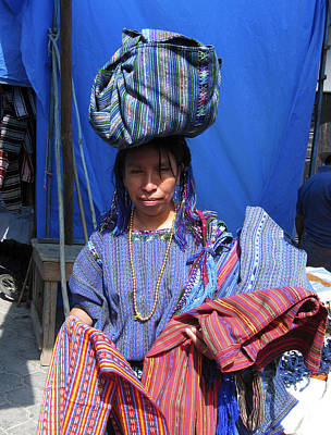 Photograph - Market Vendor Guatemala by Kurt Van Wagner