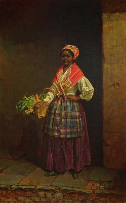 Market Woman Art Print