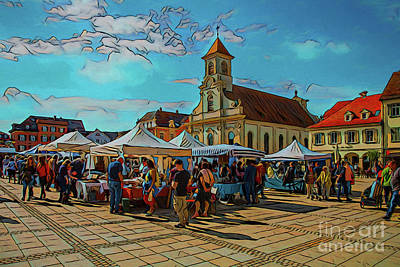 Photograph - Marketplace 17818 by Ray Shrewsberry