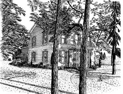 Drawing - Markham House by Ron Haist
