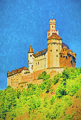 Mixed Media - Marksburg Castle by Dennis Cox Photo Explorer