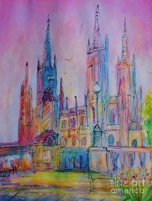 Marktkirche Wiesbaden Art Print by Ingrid  Becker