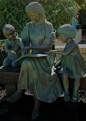 Photograph - Darla Memorial Statue by Christopher James