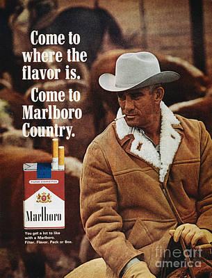 Photograph - Marlboro Cigarette Ad by Granger