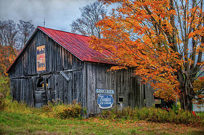 Photograph - Marlboro Country - Vermont Barn Art by Expressive Landscapes Fine Art Photography by Thom