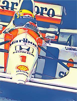 Digital Art - Marlboro Honda Racing by Gary Grayson