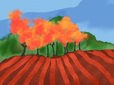 Digital Art - Marlborough Fall by Brett Shand