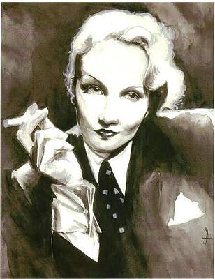 Painting - Marlene by Cecill Woods