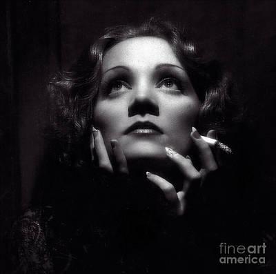 Photograph - Marlene Dietrich Art  by Doc Braham