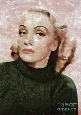Marlene Dietrich By Mary Bassett Art Print