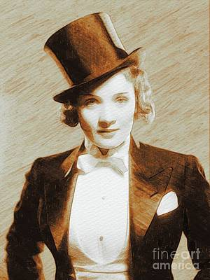 Recently Sold - Portraits Royalty-Free and Rights-Managed Images - Marlene Dietrich, Movie Legend by Esoterica Art Agency