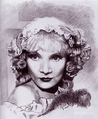 Drawing - Marlene Dietrich by Toon De Zwart