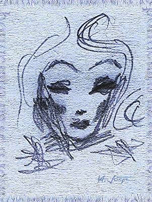 Drawing - Marlene  by Hartmut Jager