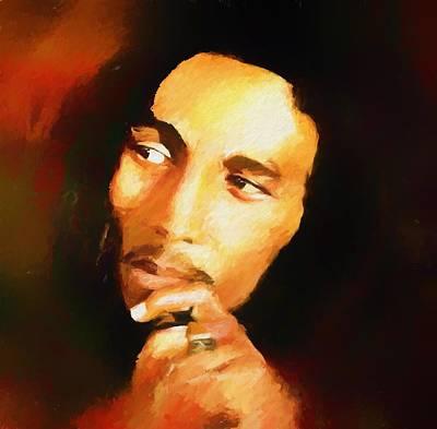Rastafari Painting - Marley by Dan Sproul