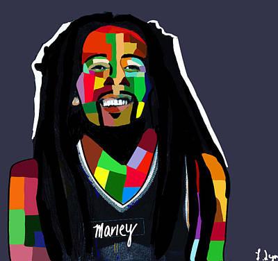 Blackart Digital Art - Marley  by Latoya Hester