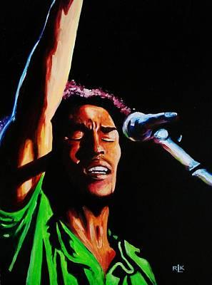 Marley One Love Art Print by Richard Klingbeil