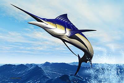 Marlin Jump Art Print by Corey Ford