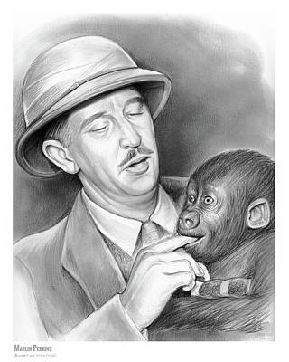 Drawing - Marlin Perkins by Greg Joens