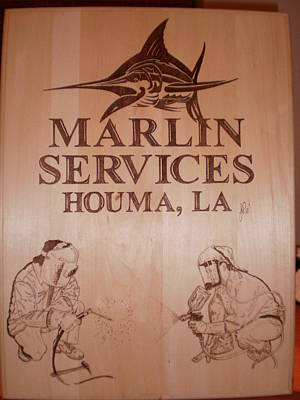 John Pitre Pyrography - Marlin Services - Pyrography by John Pitre