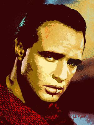 Digital Art - Marlon Brando  2 by John Keaton
